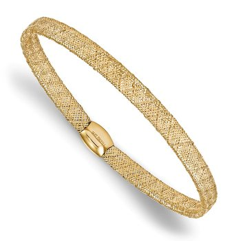 Leslie's 14k Fancy Stretch Bangle Bracelet