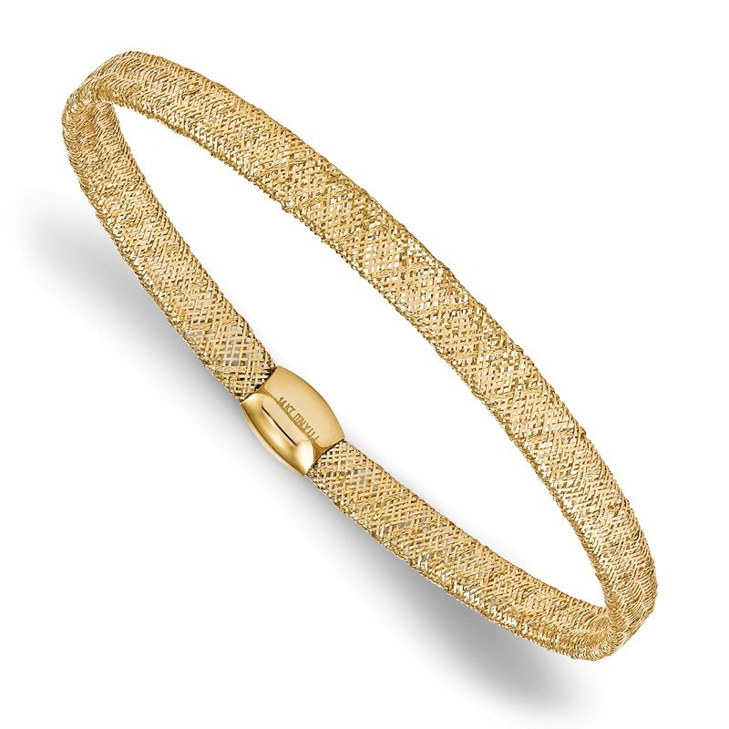 Leslie's Leslie's 14K Fancy Stretch Bangle Bracelet