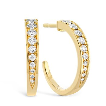 0.4 ctw. Triplicity Small Hoop Earrings
