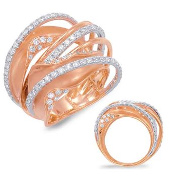 White & Rose Gold Diamond Fashion