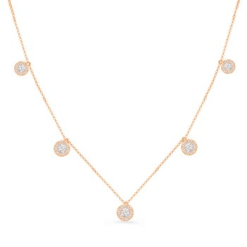 Rose Gold Diamond Necklace