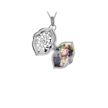 Maggie Locket Necklace Silver