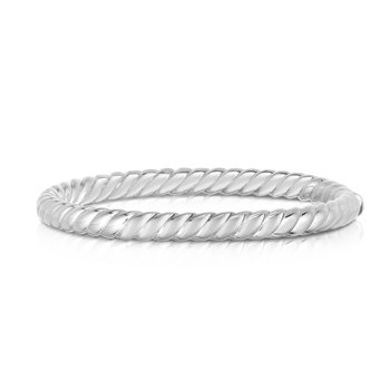 Sterling Silver Sculpted Twist 6mm Bangle