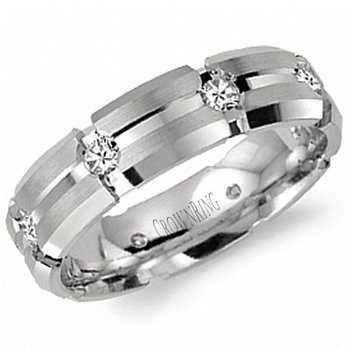 CrownRing Men's Wedding Band WB-7084