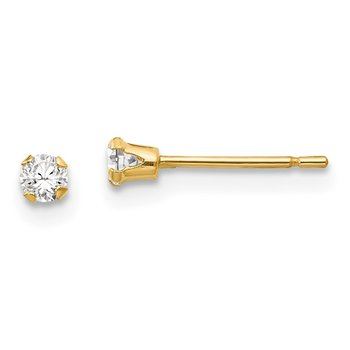 14k Madi K 3mm CZ Post Earrings