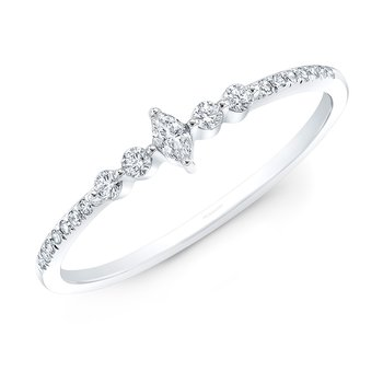 White Gold Dainty Marquise Ring