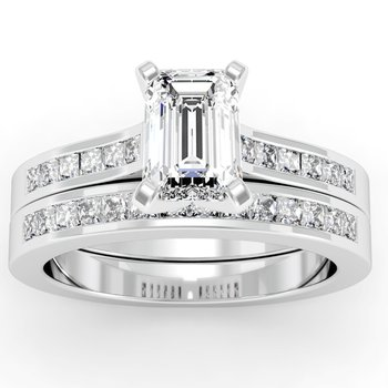 Princess Cut Diamond Engagement Ring with Matching Wedding Band