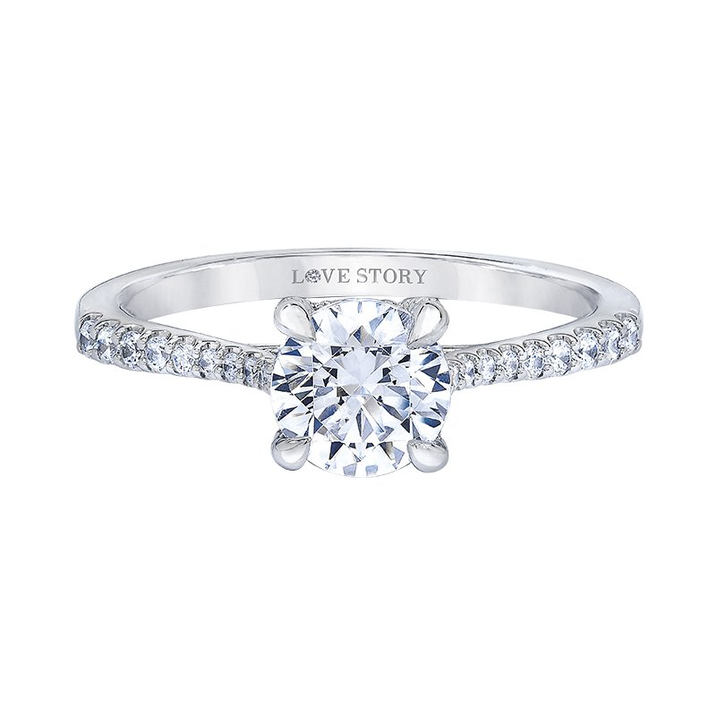 Love Story Diamonds Diamond Semi-mount Engagement Ring by Love Story