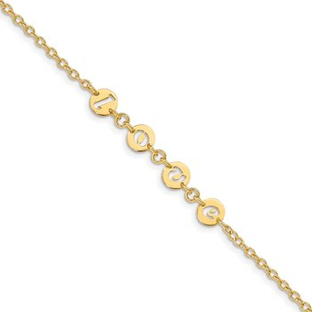 14k Polished 7.5in Cut-out LOVE Bracelet