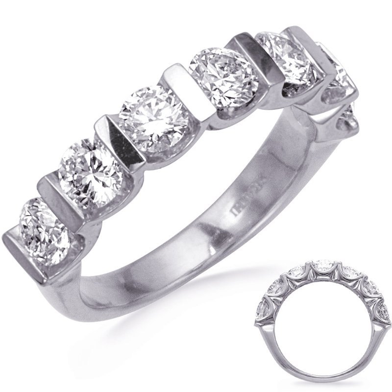 S. Kashi & Sons Bridal Bar Set Seven Stone Diamond Band