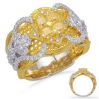 Briana Yellow White & Yellow Dia Fashion Ring