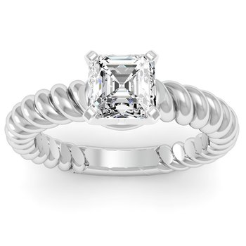 Rope Solitaire Engagement Ring
