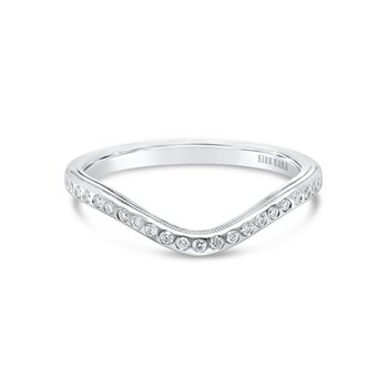 Boho Diamond V Wedding Band