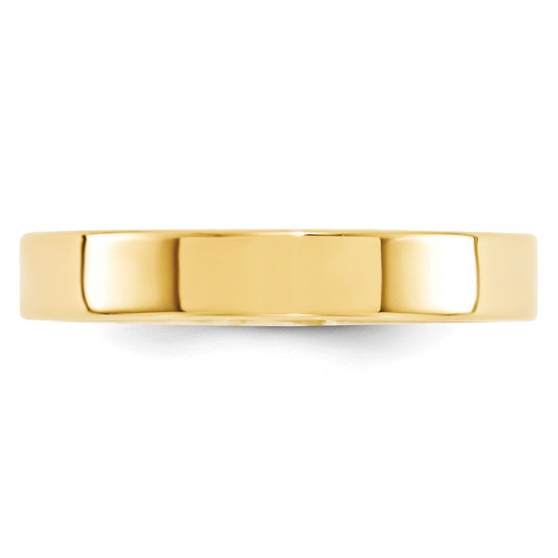 Quality Gold 14KY 4mm Standard Flat Comfort Fit Band Size 10