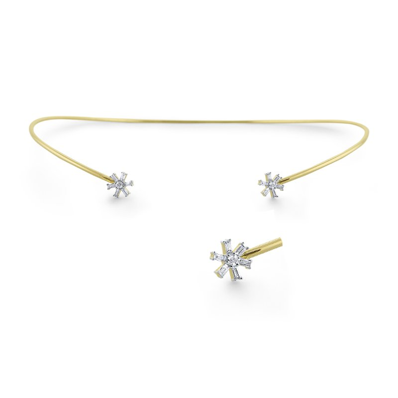 KC Designs 14K Mosaic Diamond Collar