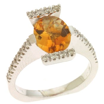 Citrine./ Diamond Ring