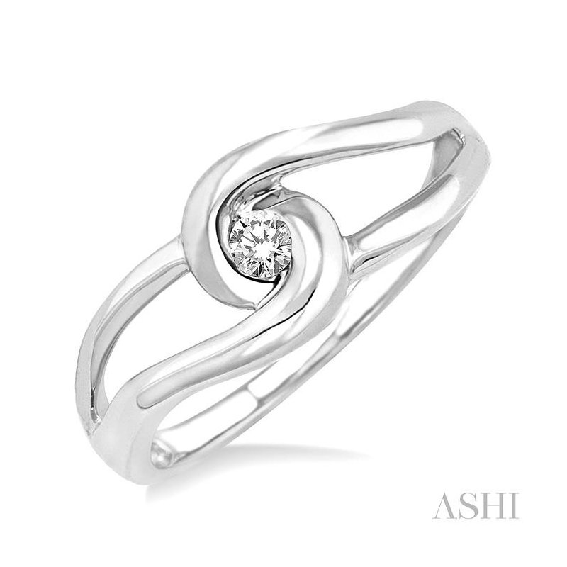 ASHI knot diamond ring