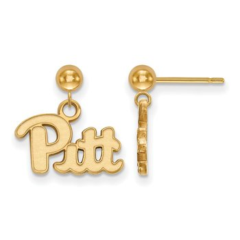 Gold-Plated Sterling Silver University of Pittsburgh NCAA Earrings