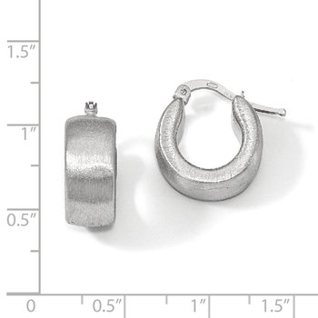 Leslie's Sterling Silver Scratch-finish Hoop Earrings
