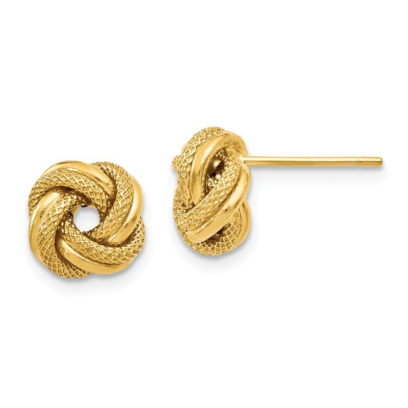 Leslie's Leslie's 14K Polished D/C Love Knot Post Earrings