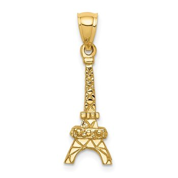 14K Polished 3D Eiffel Tower Pendant