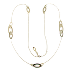 Roberto Coin 18Kt Gold Long Oval Station Necklace