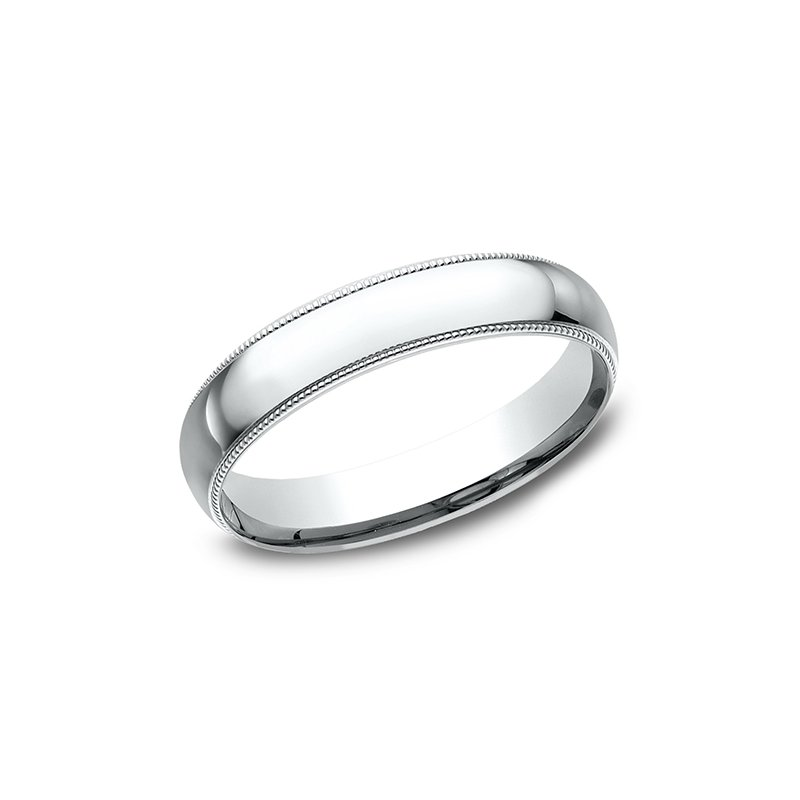 Benchmark Wedding Bands Milgrain Standard Comfort Fit Ring