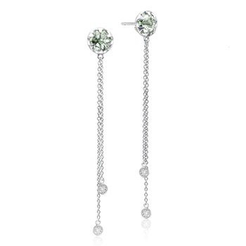 Drop Chain Earrings featuring Prasiolite