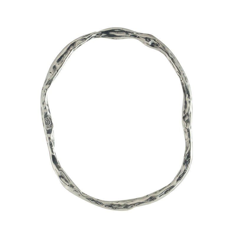 Waxing Poetic Free Form Bangle Bracelet - Silver