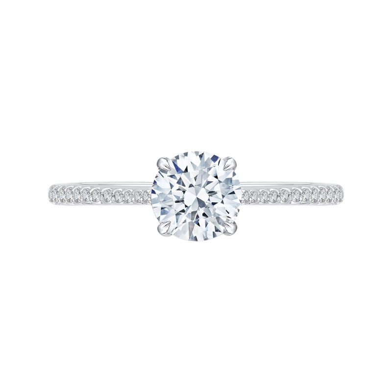 Carizza 18K White Gold Carizza Semi Mount Engagement Ring