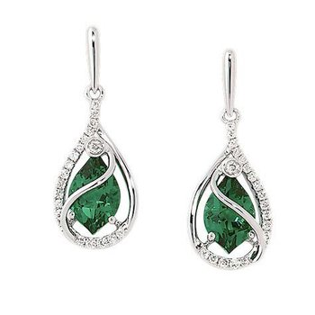 Emerald Earrings-CE3483WEM