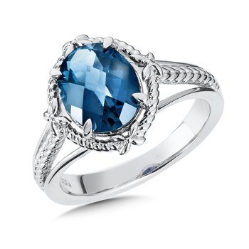 Sterling Silver London Blue Topaz Ring