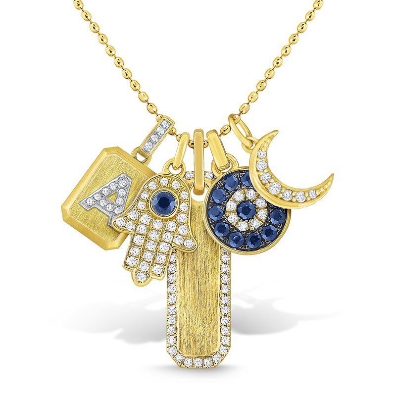 KC Designs 14K Gold and Diamond Charms Necklace