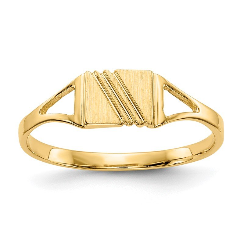 Quality Gold 14k Childs Polished & Satin Ring