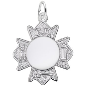 Fire Department Badge Charm