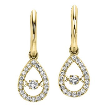 10KY Diamond Rhythm Of Love Earrings 1/5 ctw