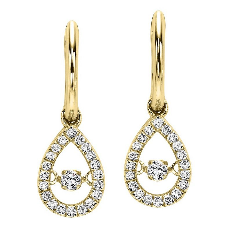 Rhythm of Love 10KY Diamond Rhythm Of Love Earrings 1/5 ctw
