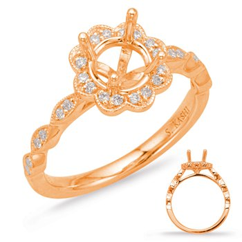 Rosee Gold Halo Engagement Ring