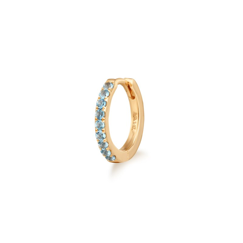 Aurelie Gi Shea | Blue Topaz Single Huggie Hoop