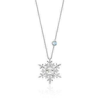 14KW 1/10CTW Elsa Frozen Necklace