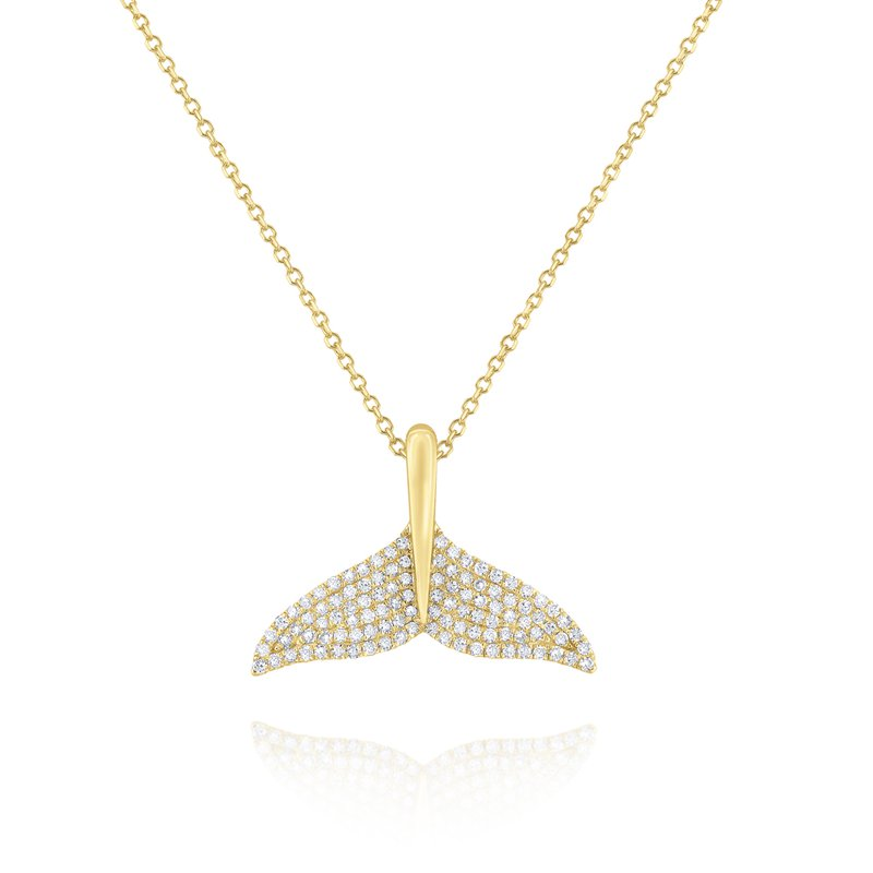 KC Designs Diamond Whale Tail Pendant Set in 14 Kt. Gold