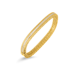 Roberto Coin 18KT GOLD NARROW BANGLE WITH DIAMONDS