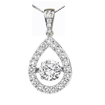 14K Diamond Rhythm Of Love Pendant 5/8 ctw