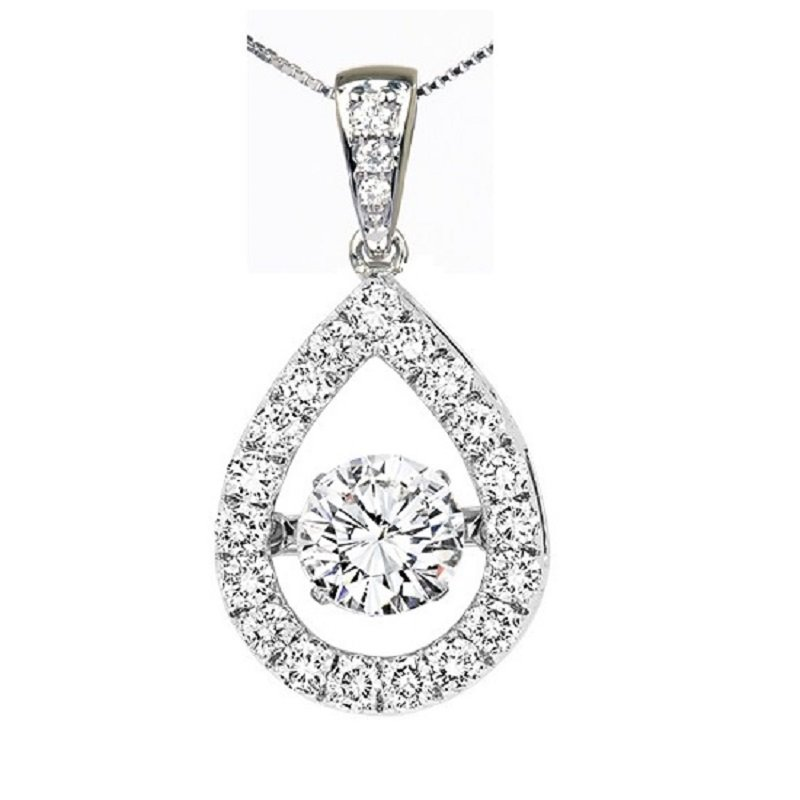Rhythm of Love 14K Diamond Rhythm Of Love Pendant 5/8 ctw
