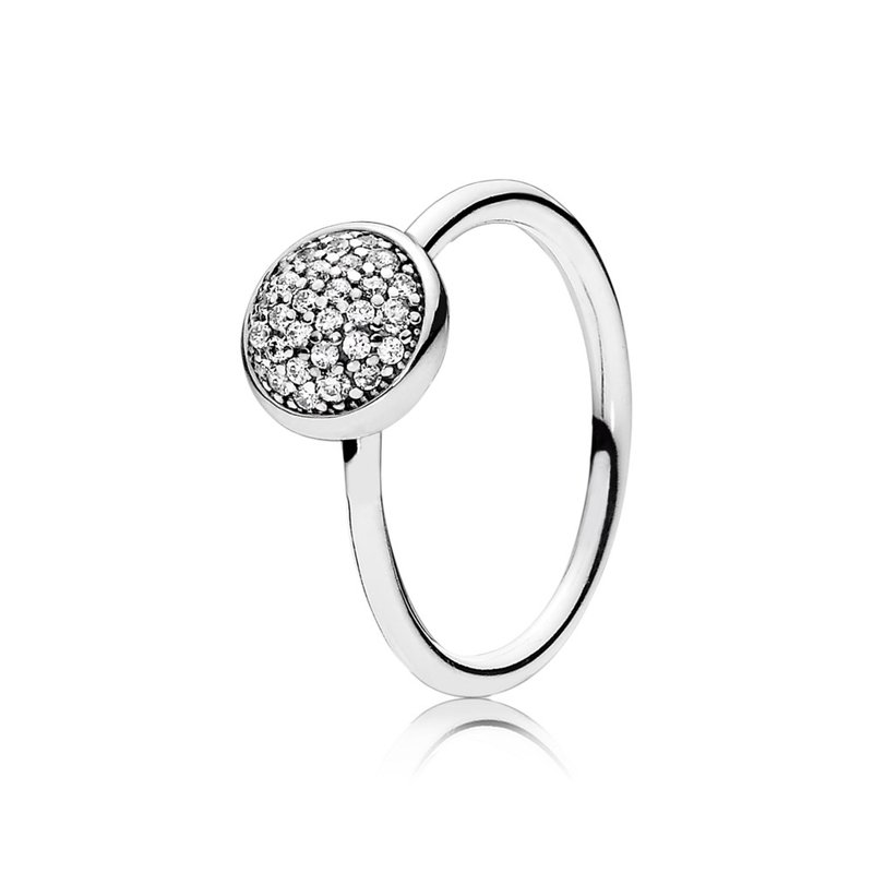 PANDORA Dazzling Droplet Ring, Clear CZ