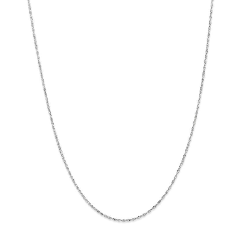 Leslie's Leslie's 10K White Gold 1 mm Sparkle Singapore Chain