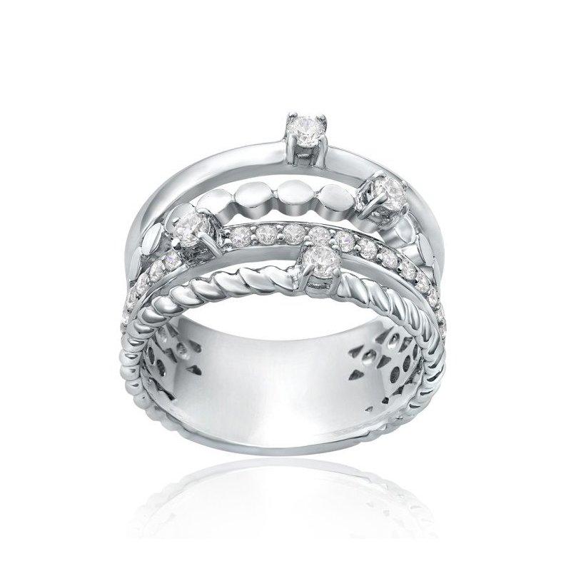 LARUS Jewelry Four-Band Ring