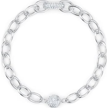 The Elements Chain Bracelet, White, Rhodium plated