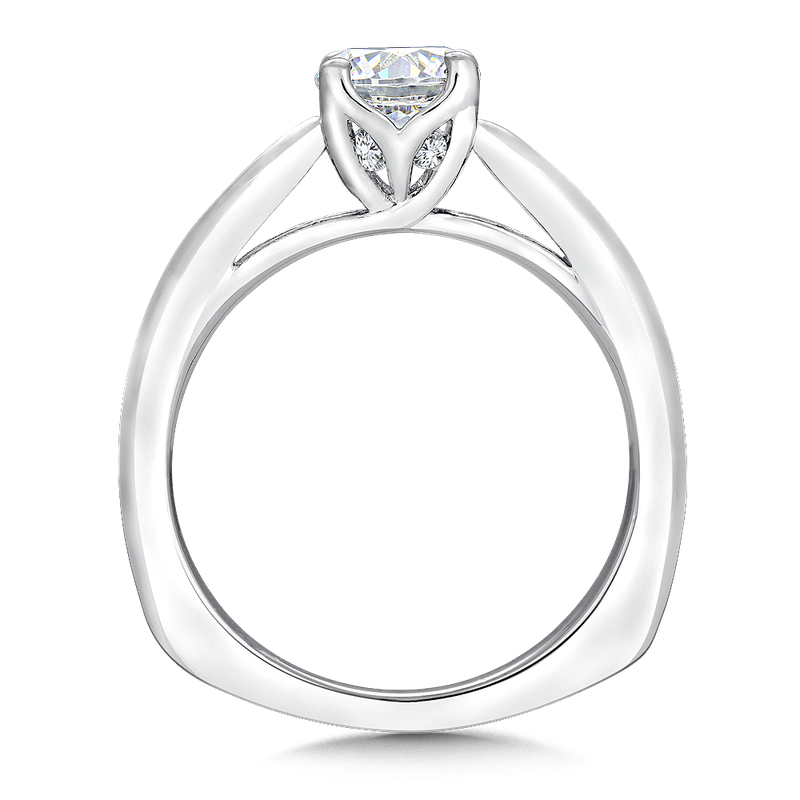 Valina Solitaire mounting .04 tw., 3/4 ct. round center.