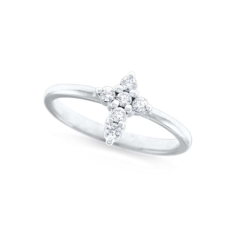 KC Designs 14K Diamond Mini Cross Ring